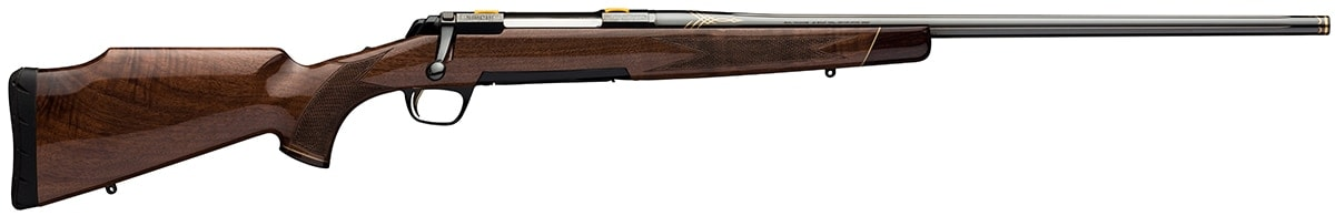 The X-Bolt Medallion Safari Grade boasts a glossy finish paired with elegant engravings. (Photo: Browning)