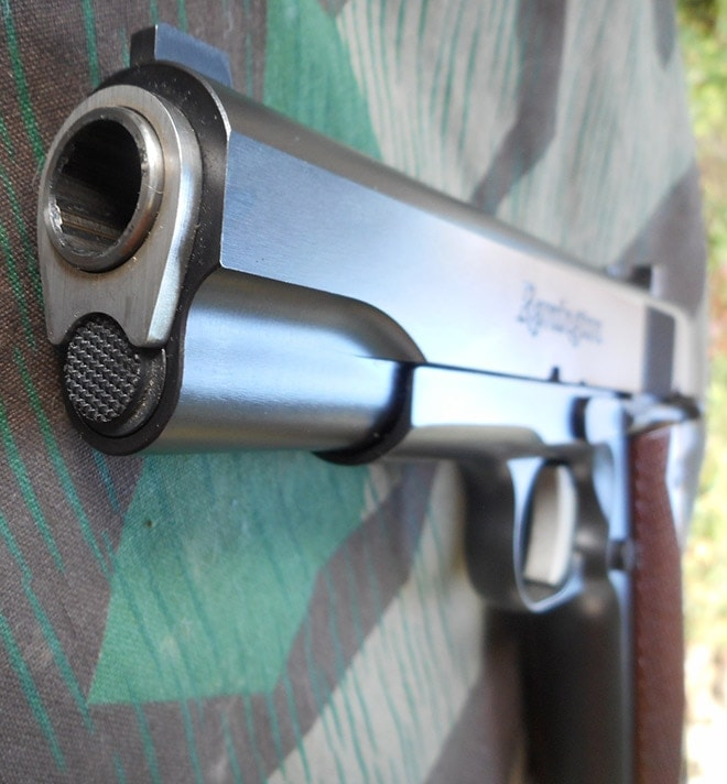 remington r1 1911 barrel view
