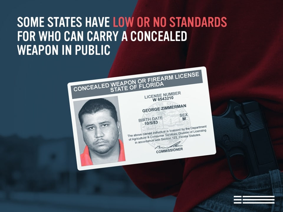 In stumping against increased acceptance of concealed carry permits nationwide gun control advocates tapped in George Zimmerman's CWL and a $20 BB gun.