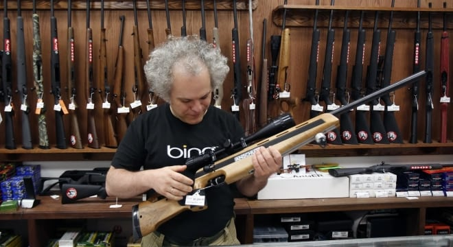 Sergey Solyanik, owner of gun retailer Precise Shooter, moved his business out of the city to avoid paying Seattle's new tax on guns and ammo. (Photo: Sy Bean/The Seattle Times https://www.seattletimes.com/seattle-news/seattles-gun-tax-still-faces-unfriendly-fire/ )