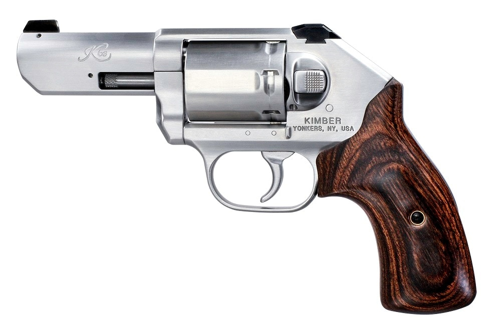 The gun features a 3-inch barrel, white three-dot sights, and walnut grips (Photos: Kimber)