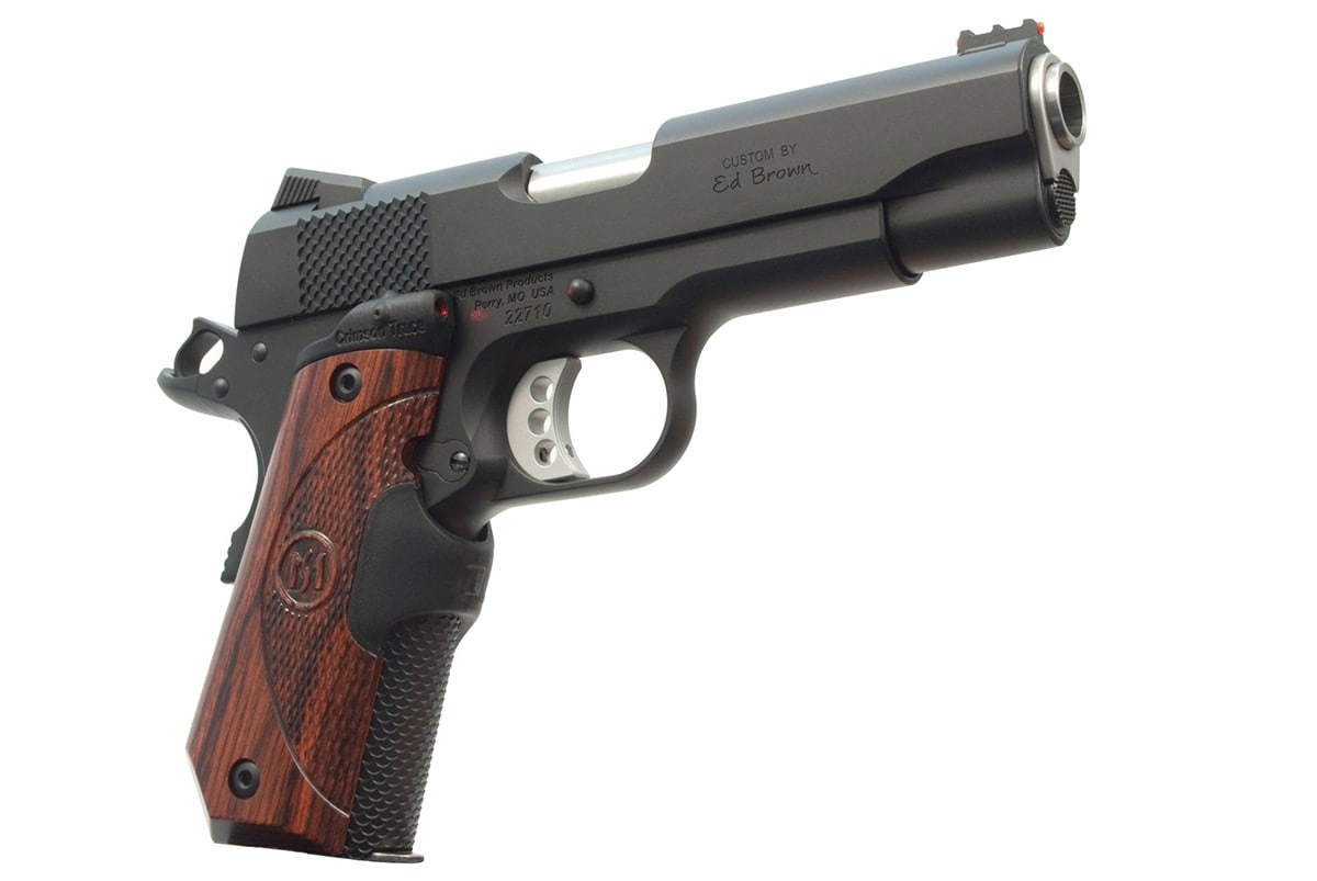 The Crimson Trace Lasergrips are offered free with any new Ed Brown pistol. (Photo: Ed Brown Products)