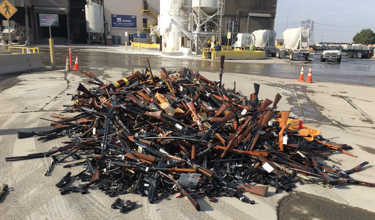 LA County melted down 4,971 guns into rebar this week (VIDEO) (5)