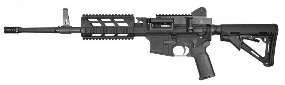 The MCR can function as a belt fed rifle or with M16/M4 magazines. (Photo: FightLite)