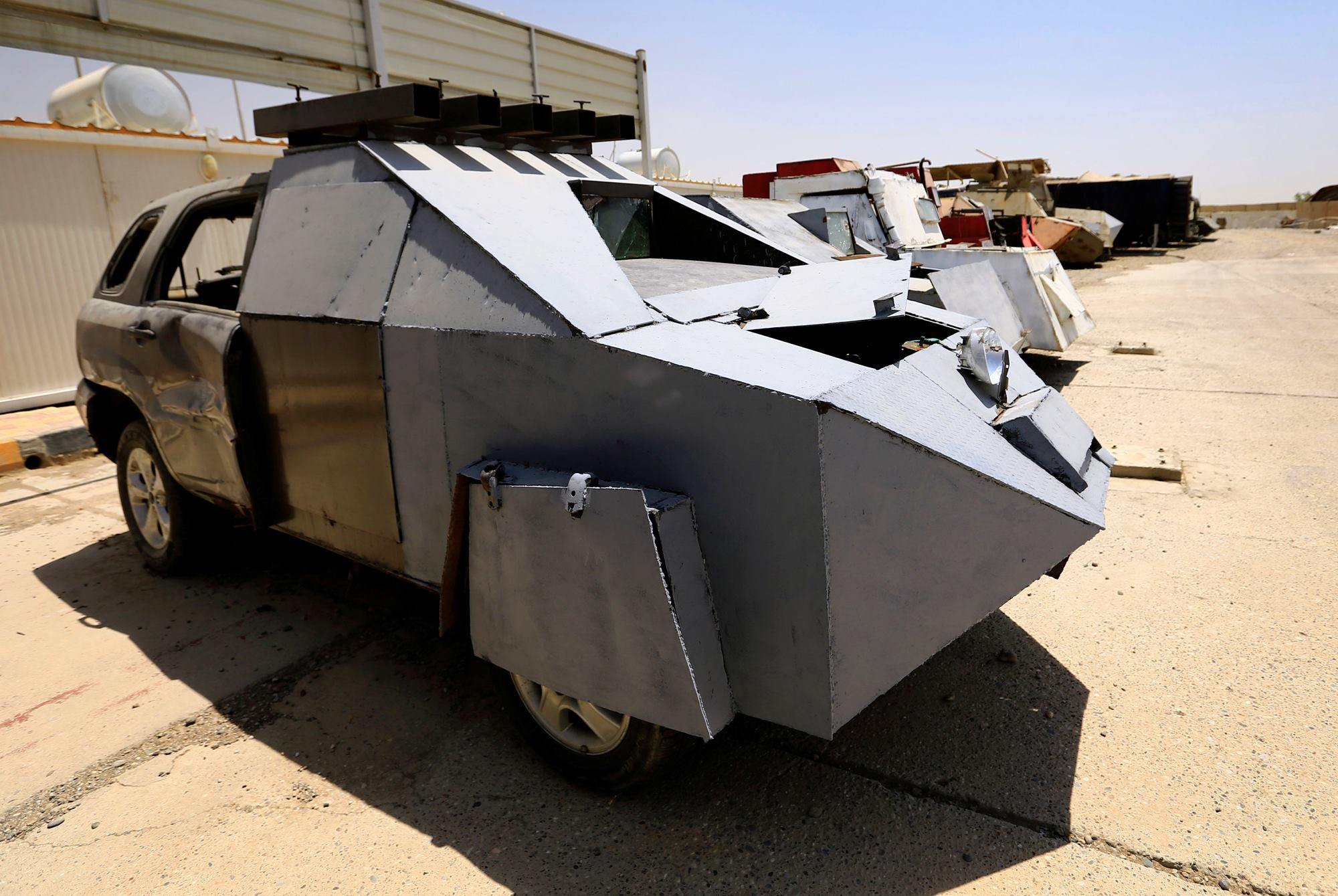 Mad Max Mosul edition U.S. backed Iraqi forces discover a fleet of improv armored vehicles 5