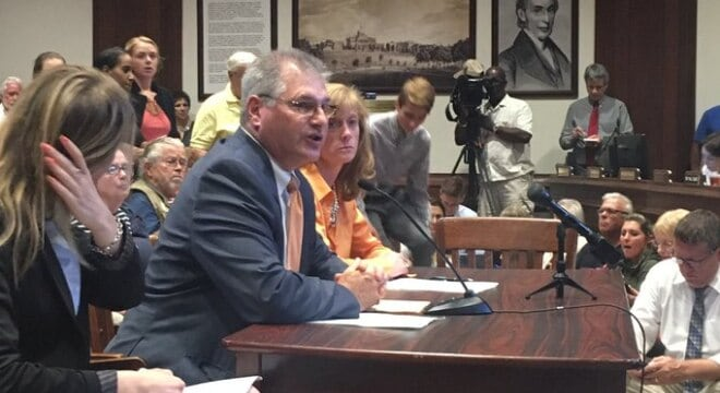 Massachusetts Rep. David Linsky joined with gun control groups this week to testify in favor of his bill to take firearms away from those deemed at risk. (Photo: Rep. Linsky)