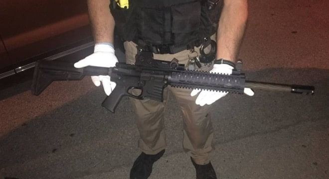 The YHM .223 seized. No word on if it was referred to as a Draco in the video. (Photo; LMPD)