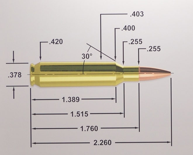 Blowup of dimensions of 22 Nosler. (Photo: Kristin Alberts)