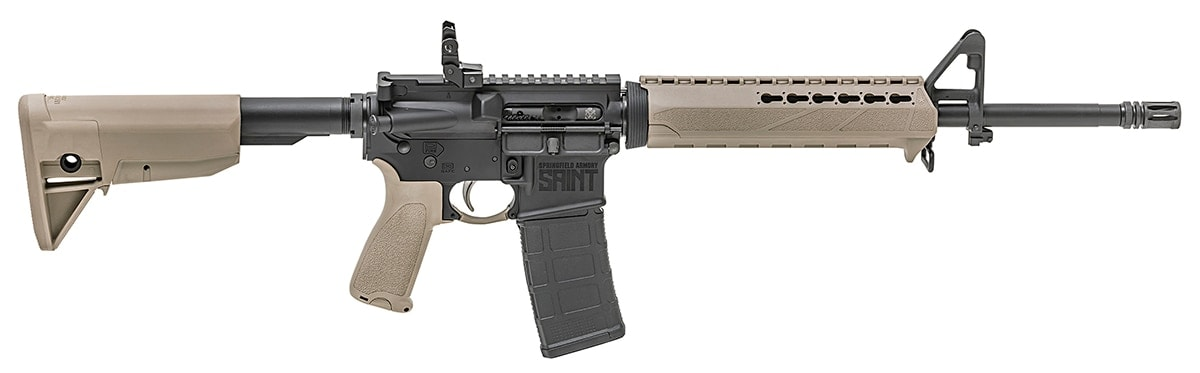 The Saint now sports the popular flat dark earth color option. (Photo: Springfield Armory)
