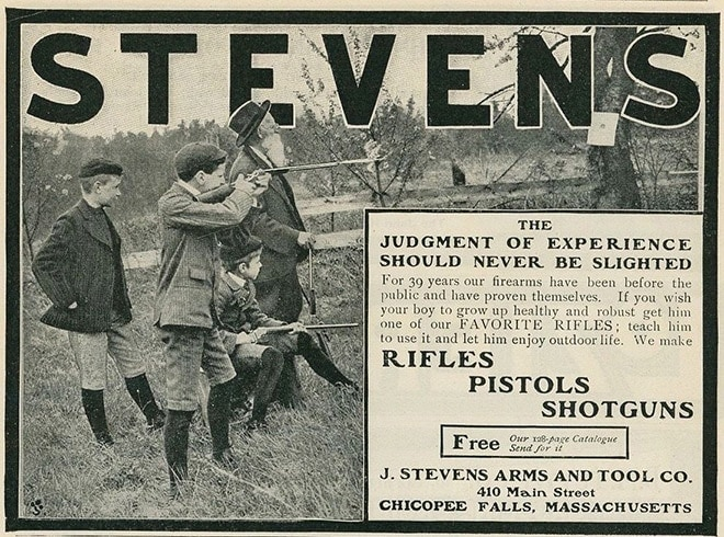 At one time single shot .22 rifles like the Stevens Favorite were as popular among young shooters as fidget spinners are among kids today.