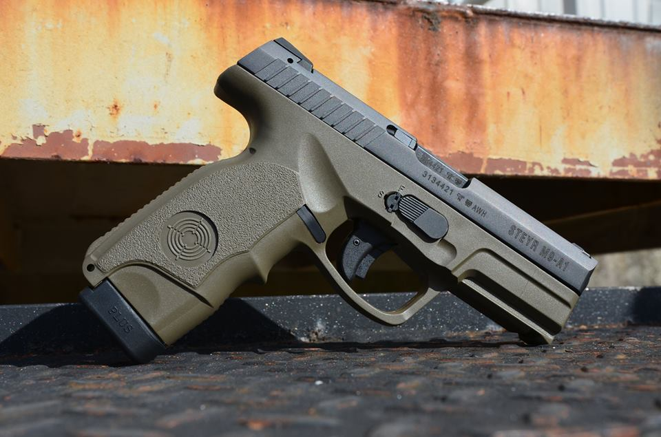 Steyr releases the M9-A1 with OD Green polymer furniture. (Photo: Steyr Arms)