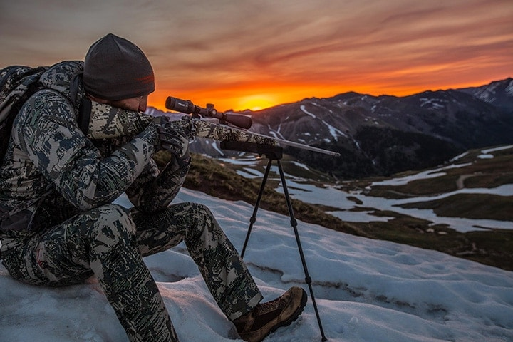 The All-Terrain Bipods allow shooters to setup in a myriad of locations to take down game. (Photo: Swagger)