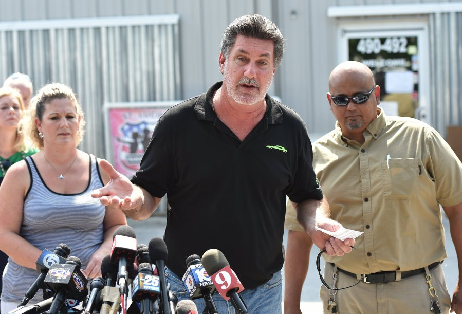 Ed Henson, owner of the Shooting Center in Port St. Lucie, Florida, addresses the media after the Orlando shooting in 2016. (Photo: TCPalm)