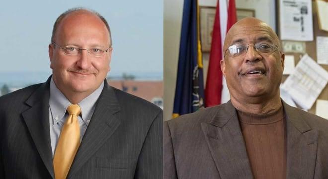 Allentown Mayor Ed Pawlowski and former Reading Mayor Vaughn Spencer (Photo: Newsworks)