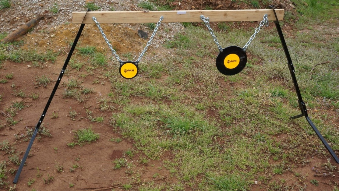 The Adjustable target Stand by Viking Solutions pairs with a variety of targets for both shooters and archers. (Photo: Viking Solutions)