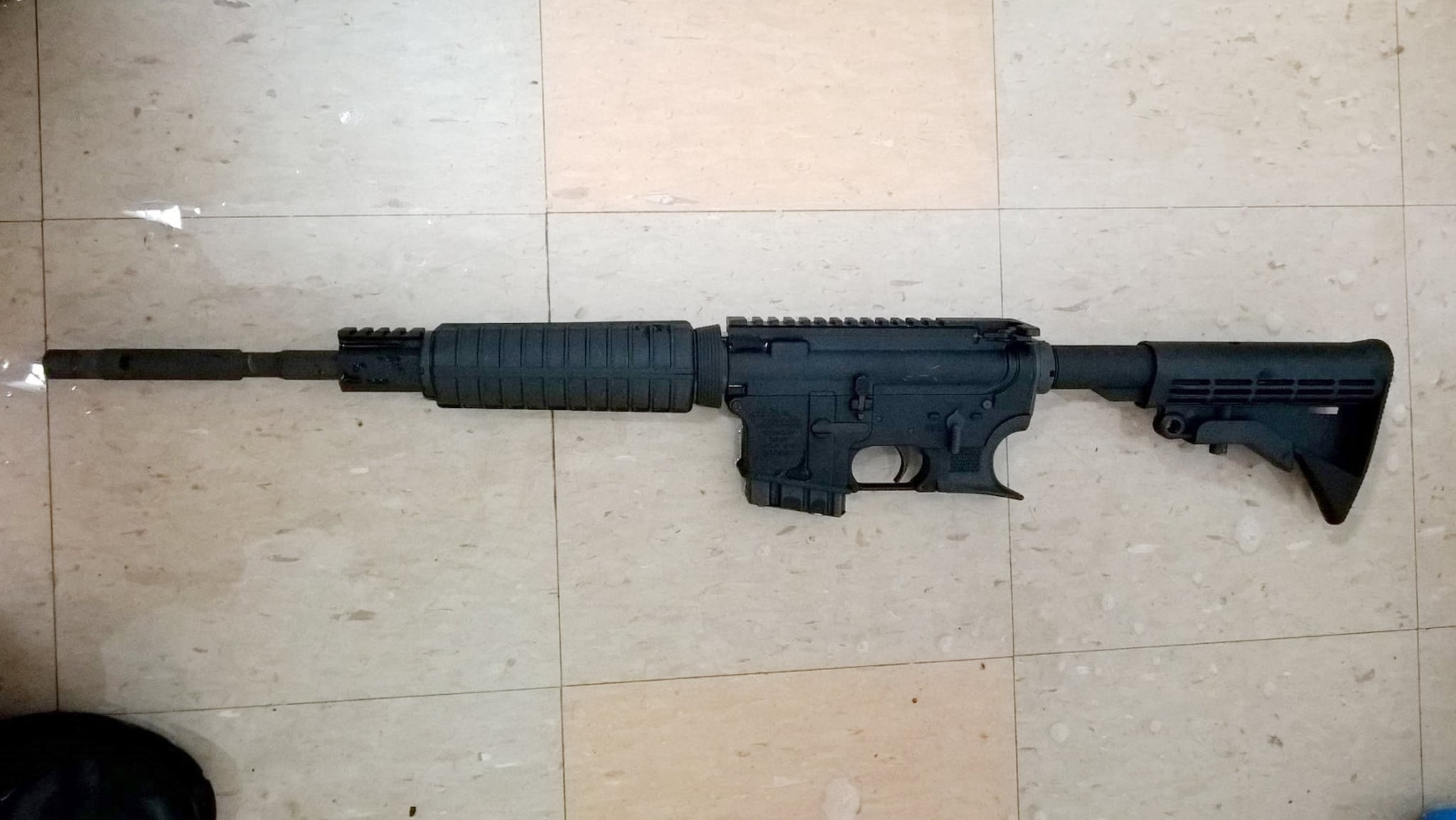 The AM-15 semiautomatic rifle allegedly used by Henry Bello to kill a clinician and himself before after wounding six others last week. (Photo: New York Police Department)