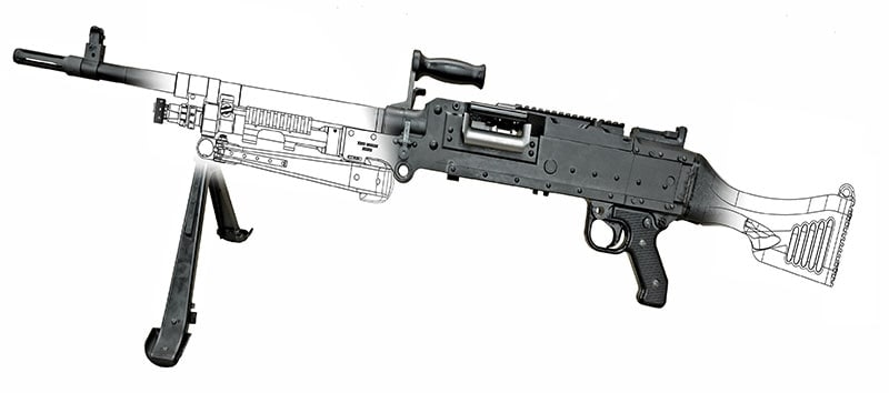Upgrades from legacy C6s include a polymer stock and furniture and the ability to add optics and accessories via a rail system. (Photos: Canadian Forces)