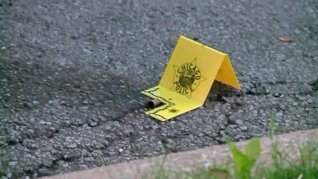 Chicago crime scene photo marking evidence.