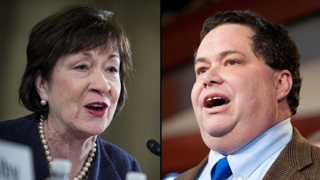 Sen. Susan Collins and Rep. Blake Farenthold. (Photo: Getty Images)