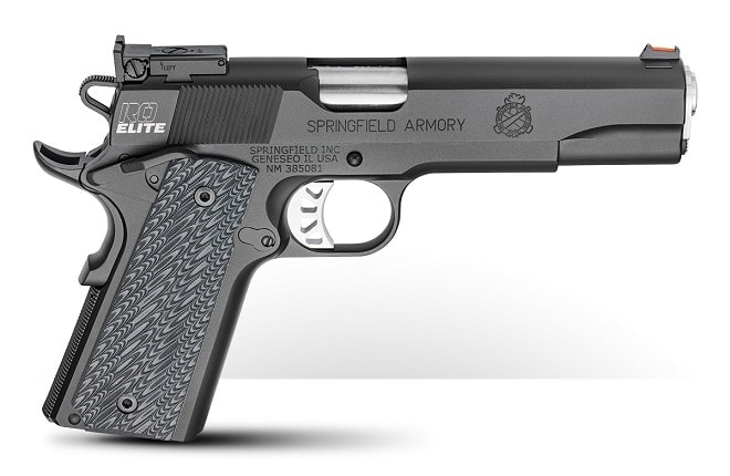 Bringing up the end of the parade of new longslides is the Elite Target, a more traditional 1911 with a GI-style recoil system that MSRPs at $1,048.