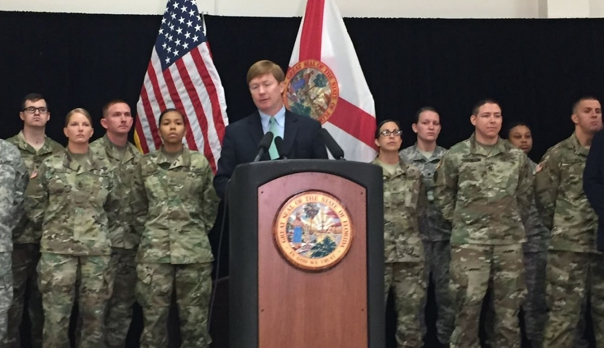 Adam Putnam at a July press conference at the Florida National Guard Armory in Tallahassee. (Photo: James Call/Tallahassee Democrat)