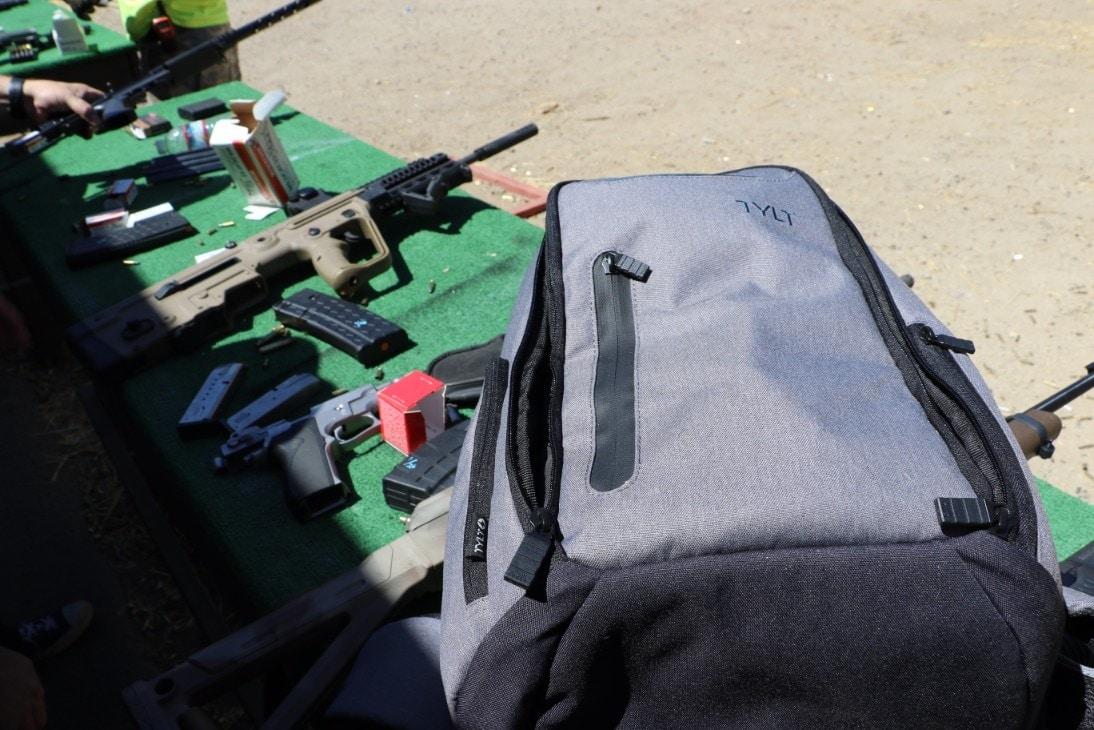 TYLT's Energi Pro bag at the range (Photos: J. Curtis Morgan)