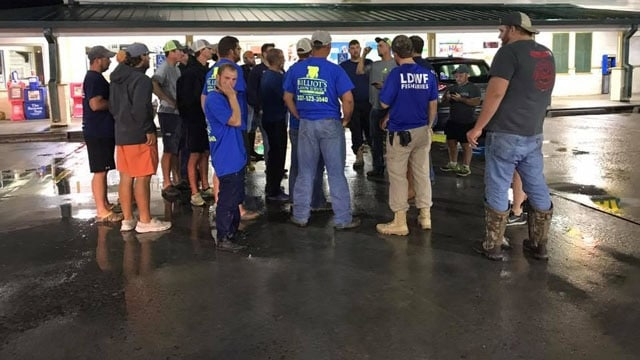 Louisiana's Cajun Navy headed for Houston Monday to help with ongoing rescue efforts in the city (Photo: Louisiana Cajun Navy/Facebook)