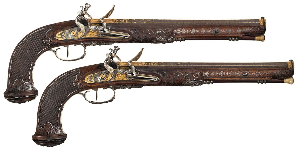 The Boutet dueling pistols date back to the early 1800s. (Photo: Rock Island Auction Company)