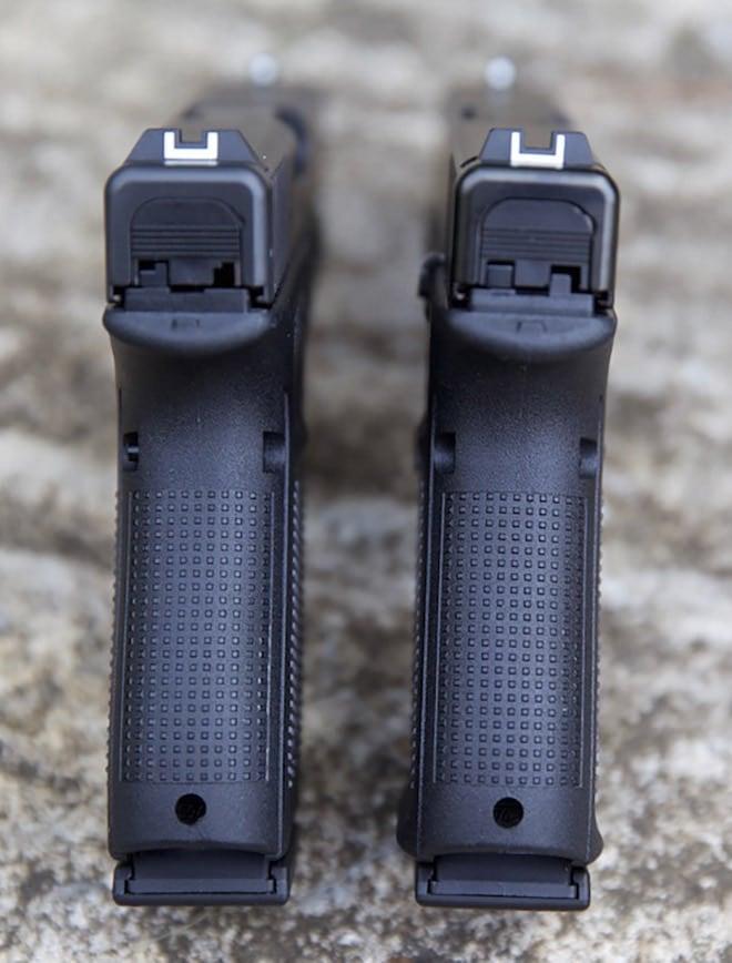 rearview comparison of gen 4 and gen 5 glock 19