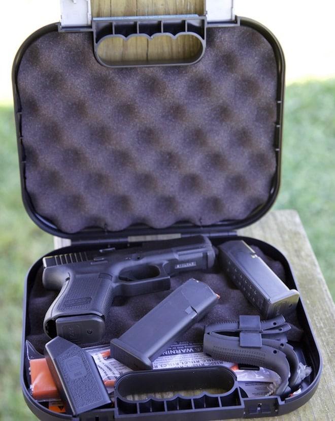 glock 19 and magazines inside case