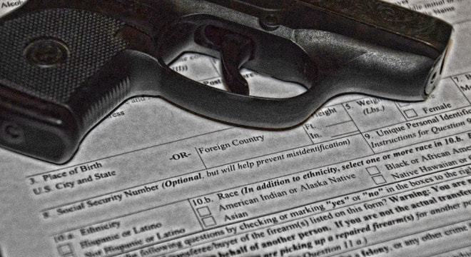 A Senate bill would remove questions from the ATF's Form 4473 about race or ethnicity (Photo: Chris Eger/Guns.com)