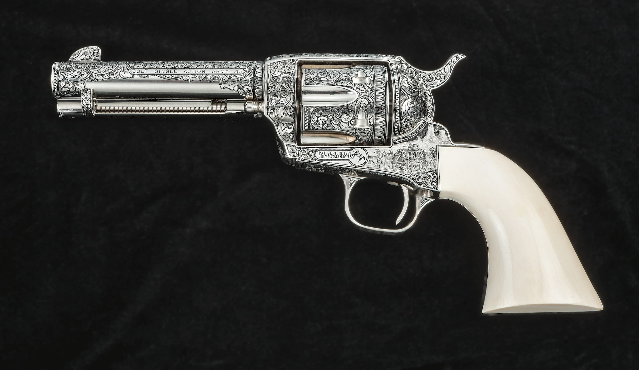 Stagecoach Colt Single Action Army .45 - theme dedicated to the 1936 Movie with John Wayne (Photo: Michael Dubber)