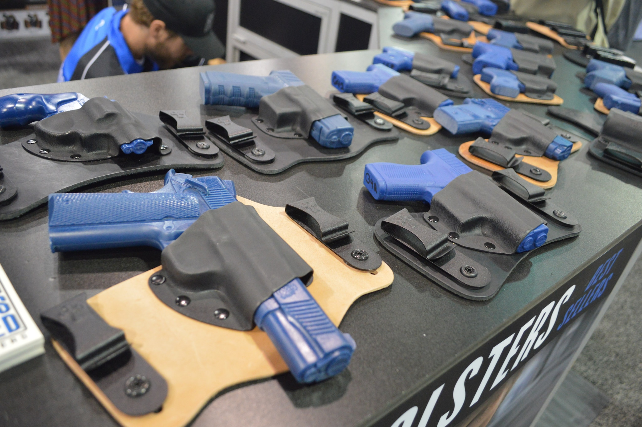CrossBreed Holsters on display at the Carry Guard Expo. CrossBreed filled a large booth with all their concealment options, and they were a major sponsor of the fashion show as well. (Photo: Kristin Alberts/Guns.com)