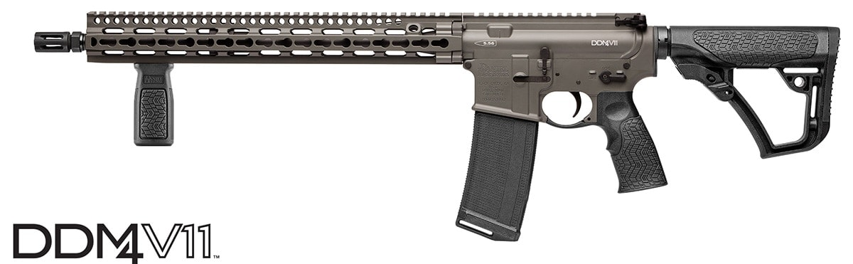 The DDM4V11 is one of several rifle platforms offering the new Cerakote color. (Photo: Daniel Defense)