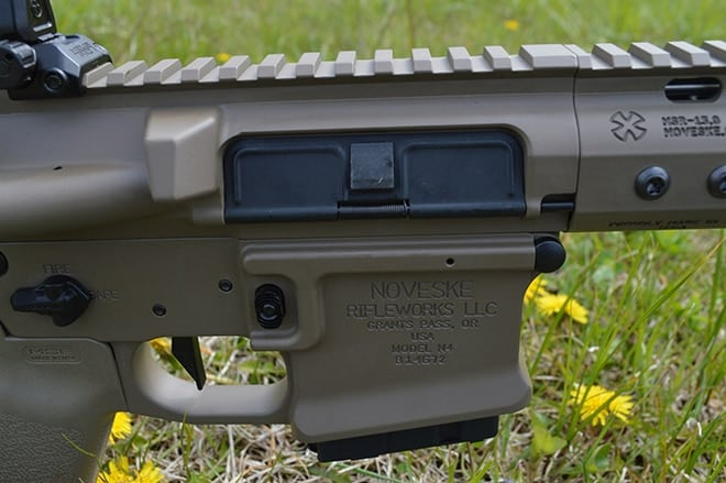 Detail_of_the_made_in_USA_Noveske_Varmageddon,_a_nice_partnership_with_Nosler_for_their_new_cartridge