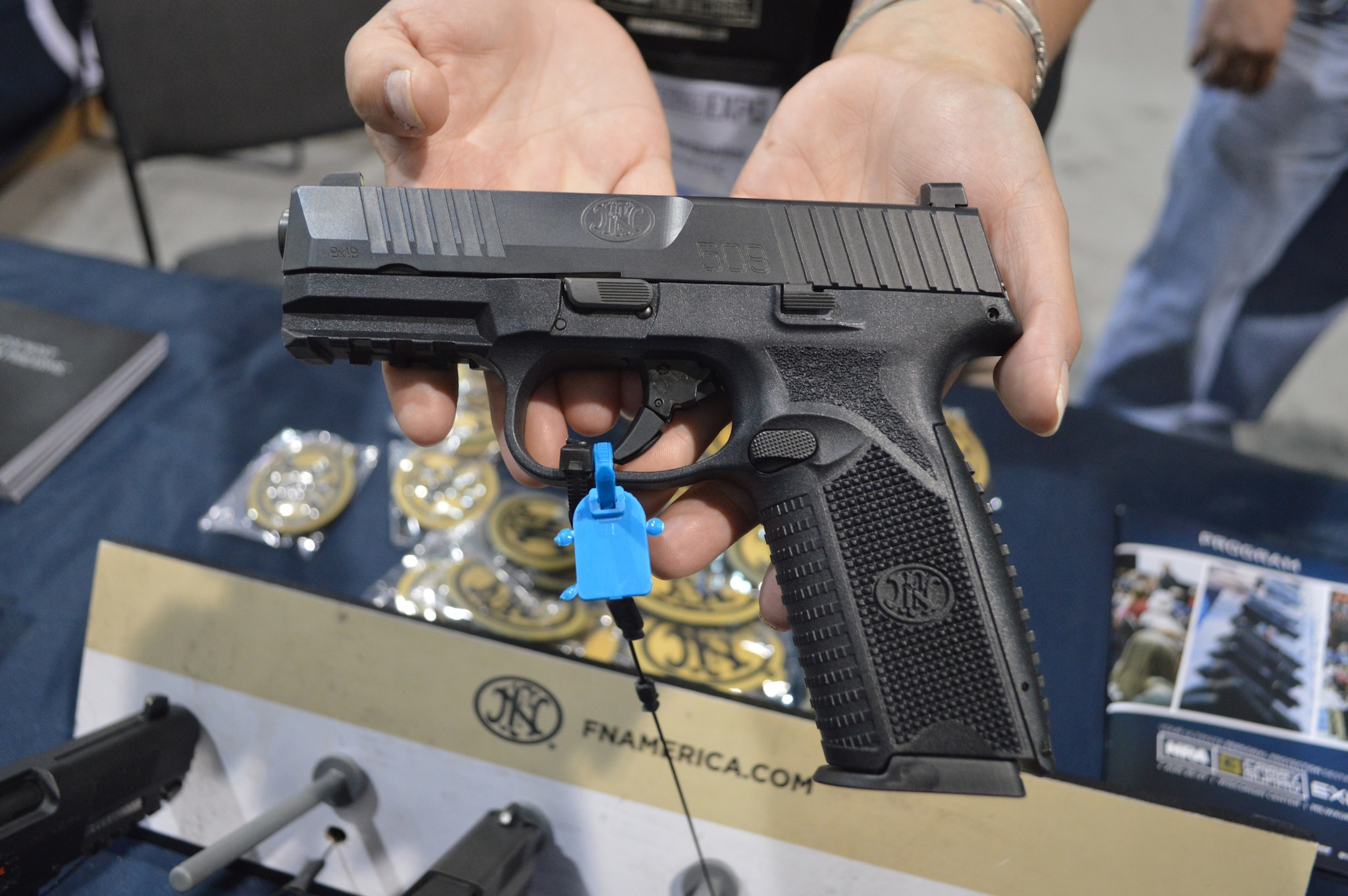 FN-USA displayed a number of pistols at the Expo, but none was as popular as the new 509. The double action 509 is the company's latest LE/Military meets civilian 9mm pistol. (Photo: Kristin Alberts/Guns.com)