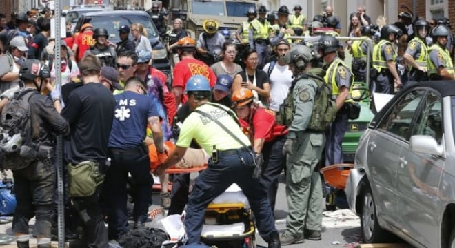 The weekend clash left one dead and over 40 injured, mostly from a vehicular ramming (Photo: AP)