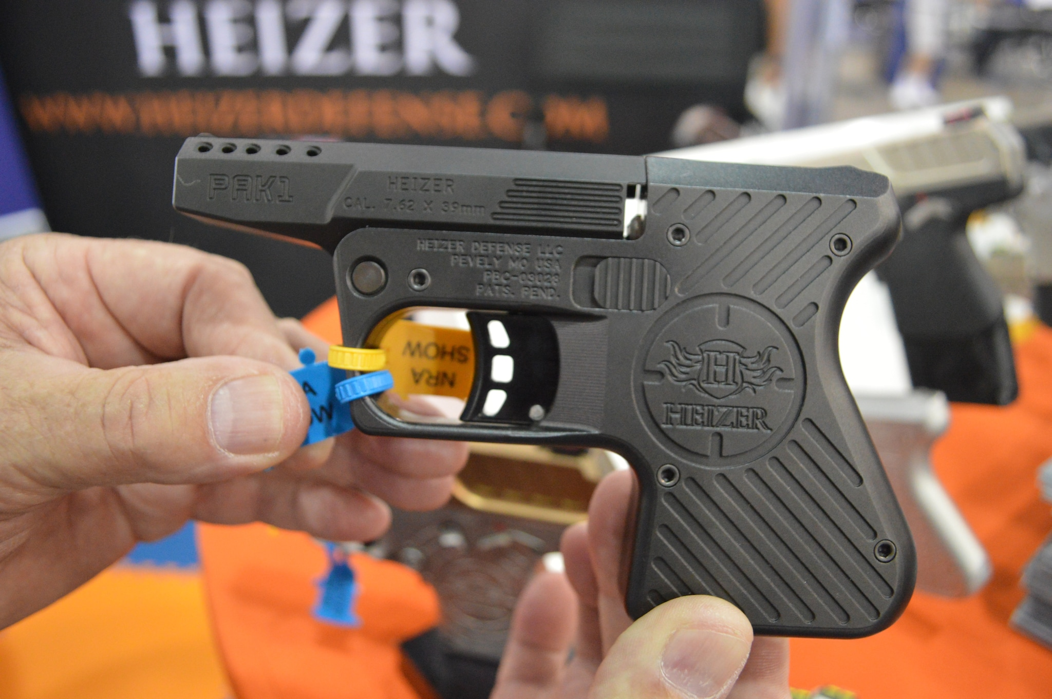 Speaking of deep concealment, Heizer built a reputation for slimline pistols built from aerospace metals. This 7.62x39 ported single shot is no exception. (Photo: Kristin Alberts/Guns.com)