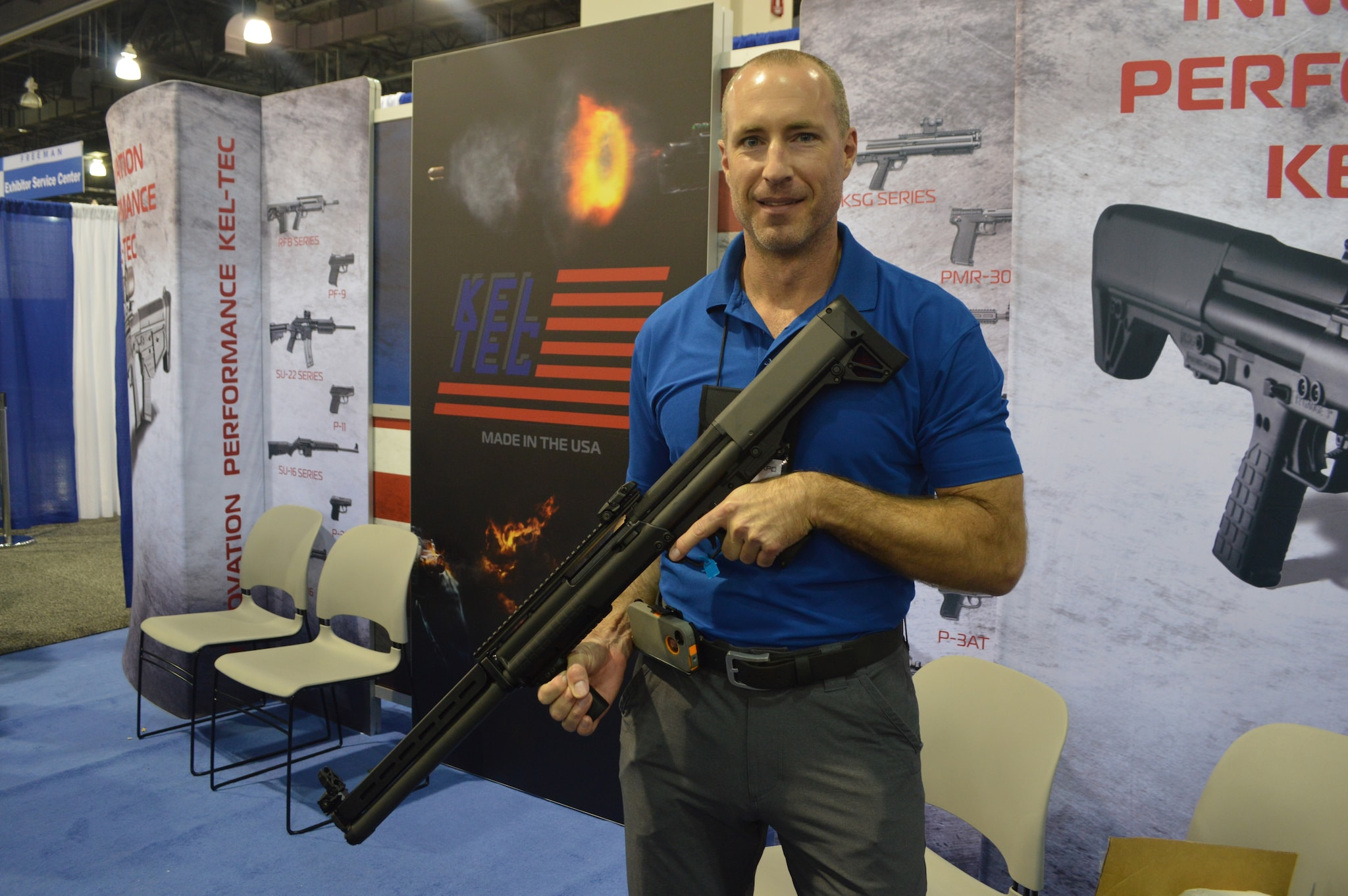 """Kel Tec has not been sitting back since the introduction of their wildly popular KSG bullpup-length shotgun. In fact, this was our first look at the bigger, badder KSG 25, a pump action that holds 20-rounds of 3"""" 12-gauge. If that's not enough home defense firepower, I don't know what is."""
