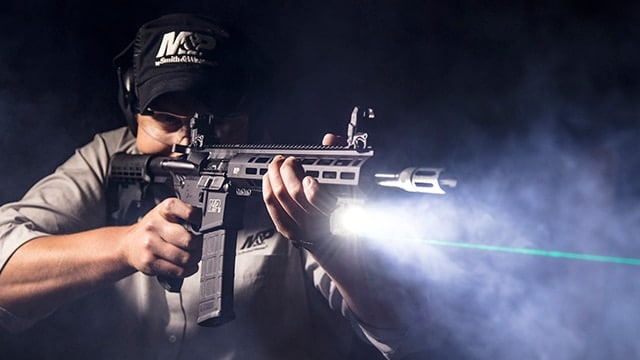 The M&P15T with Crimson Trace LiNQ boasts both a flashlight and laser setup. (Photo: Smith & Wesson)
