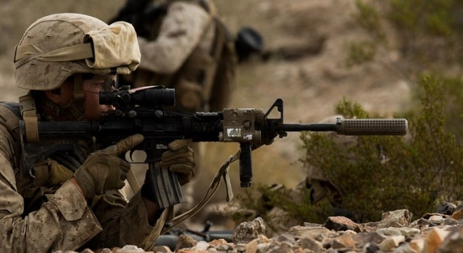 Marines of the 1st Battalion, 2nd Marine Regiment have been testing suppressors since last November, now the Marines are asking the industry about buying in bulk (Photo: 2d MARDIV Combat Camera)