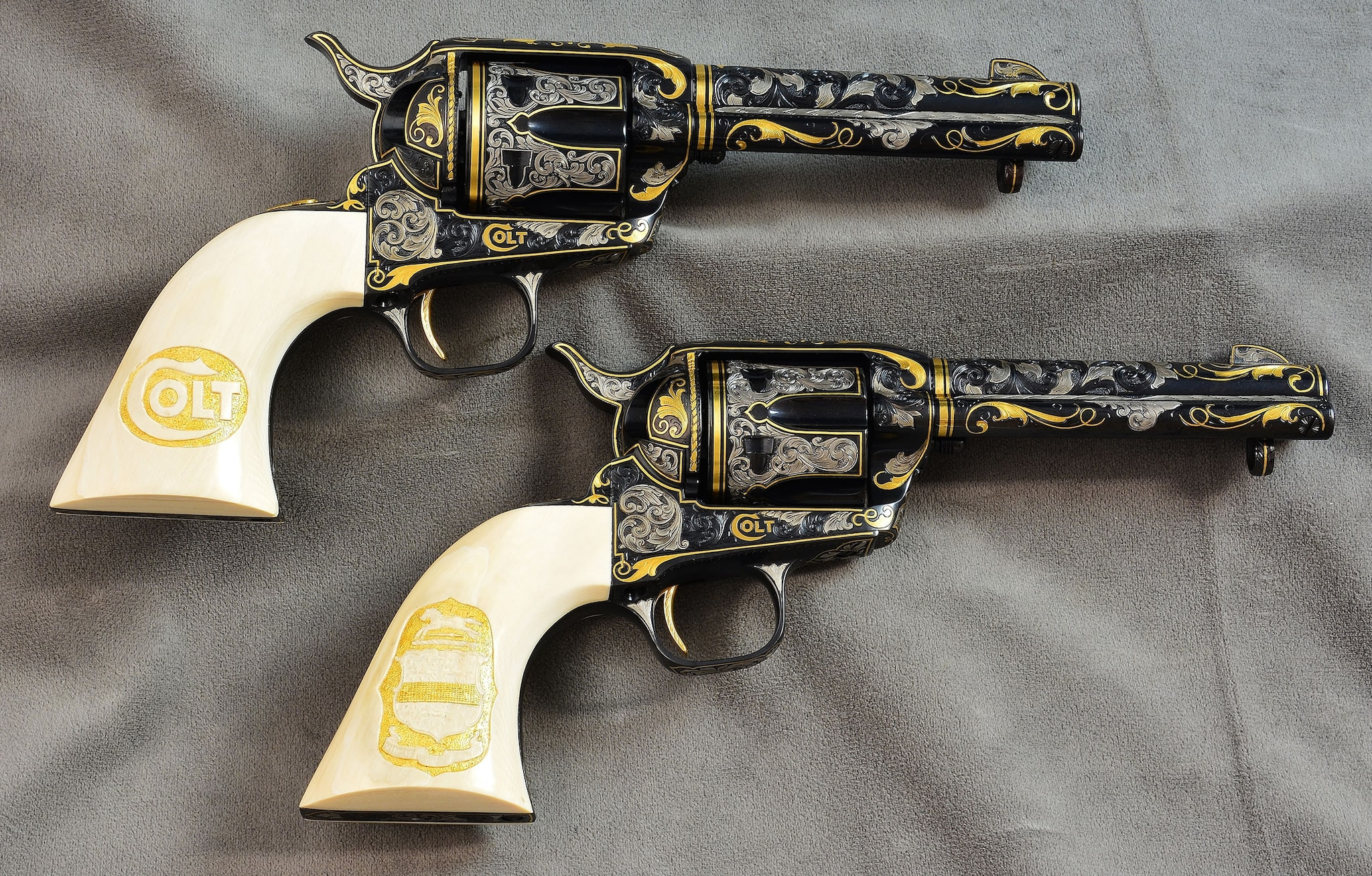 Matched pair of Colt Single Action Army .32-20 (Photo: Michael Dubber)