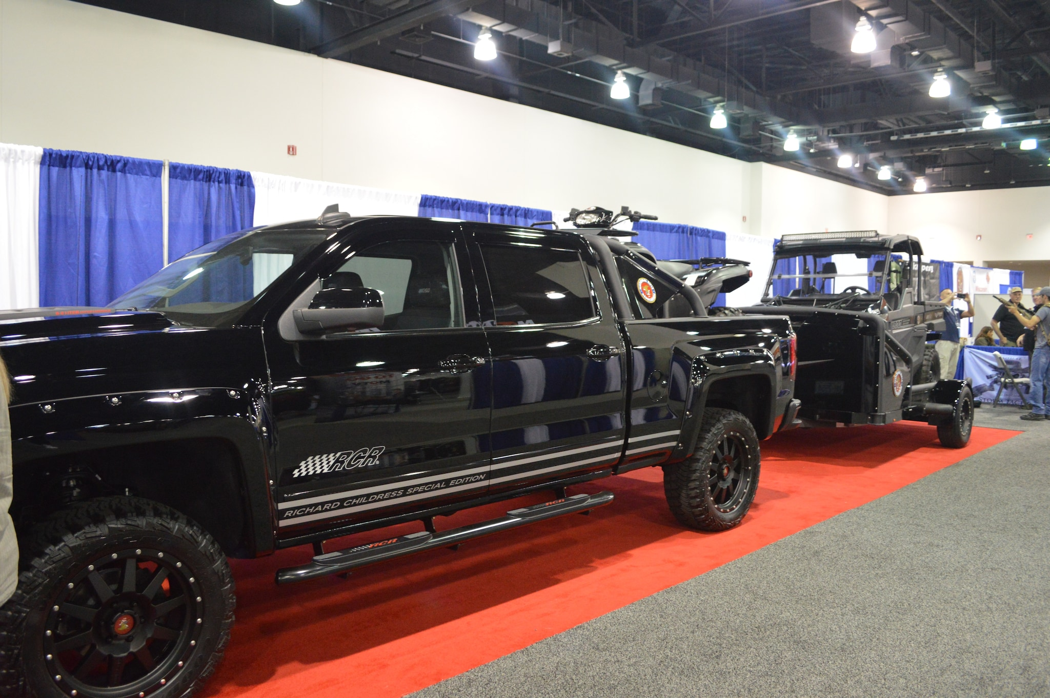From museum displays to this modern custom NRA raffle truck, ATV, and UTV/trailer combo, the show floor was packed with something for everybody. (Photo: Kristin Alberts/Guns.com)