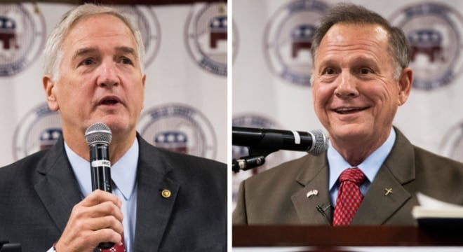Sen. Luther Strange and former Alabama Supreme Court Chief Justice Roy Moore are battling it out for the Republican primary to fill the seat in the Senate left by Jeff Sessions. (Photo: Bill Clark/CQ Roll Call )
