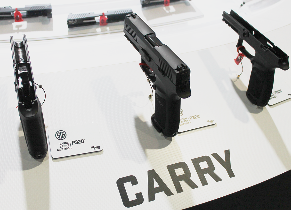 The Sig P320 on display at SHOT Show 2017 in Las Vegas. (Photo: Jacki Billings)