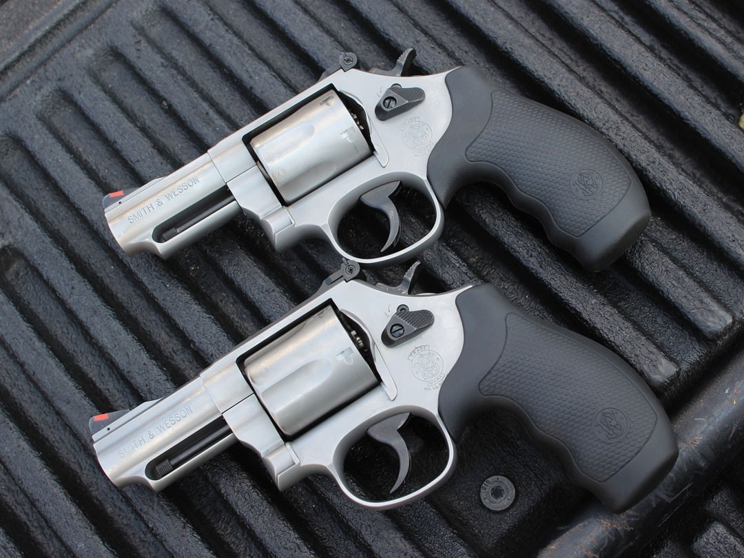The Smith & Wesson Combat Magnums.