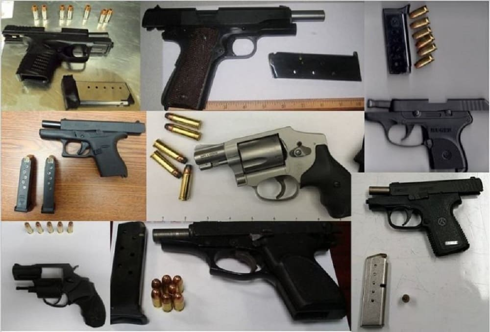 The TSA discovered 76 guns during the week of Aug. 14-20, 2017. (Photo: TSA)
