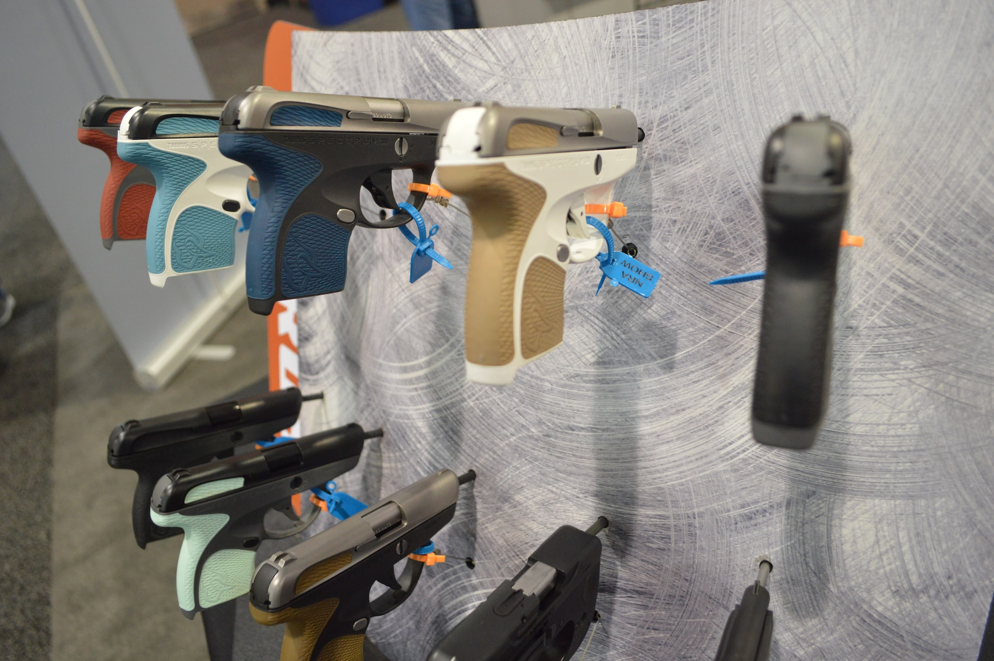 Looks don't make the gun, but Taurus sure reached into the depths of the color palette with their new-ish line of Spectrum pistols. (Photo: Kristin Alberts/Guns.com)