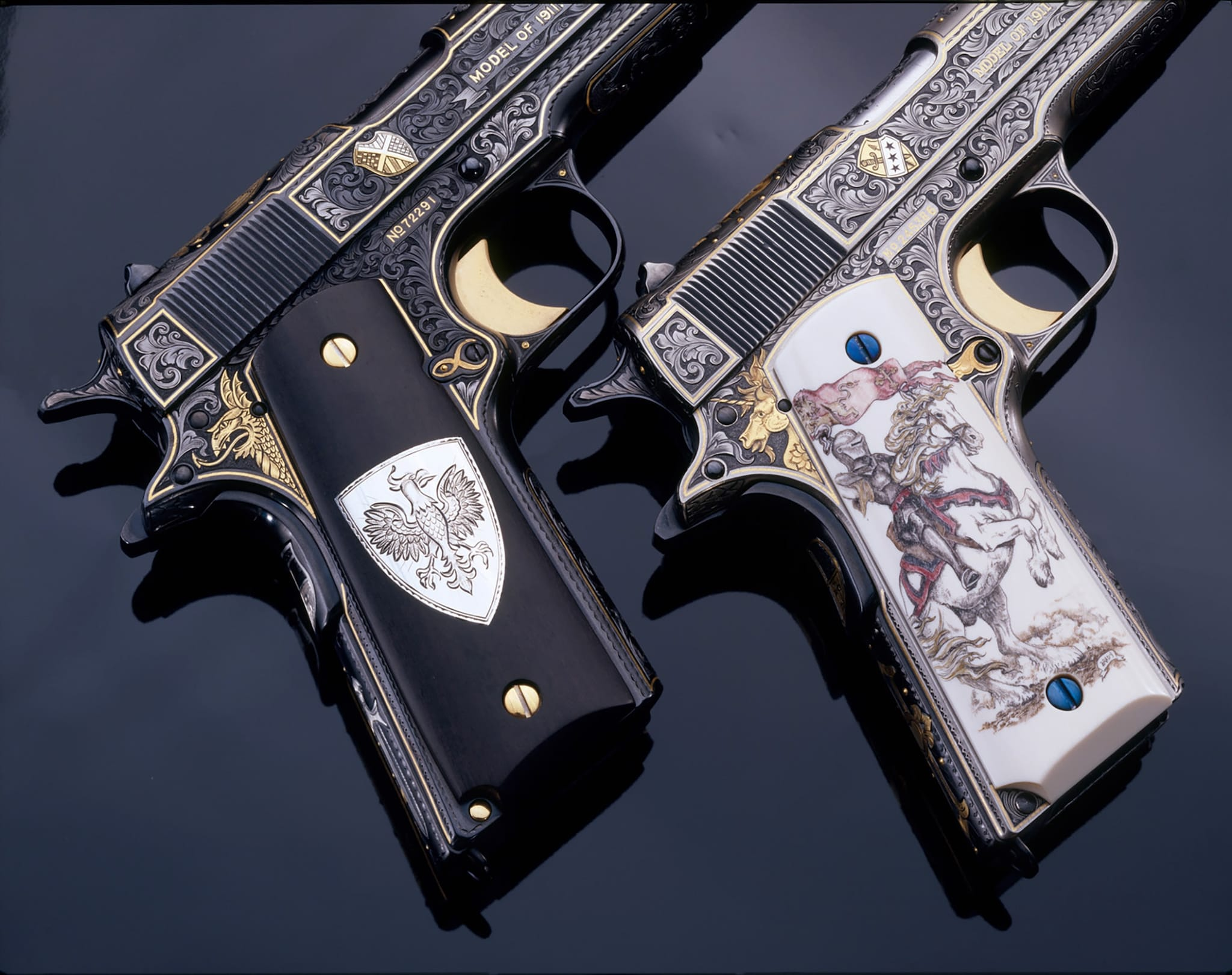 The Black and White Knights Colt .45s (Photo: Michael Dubber)