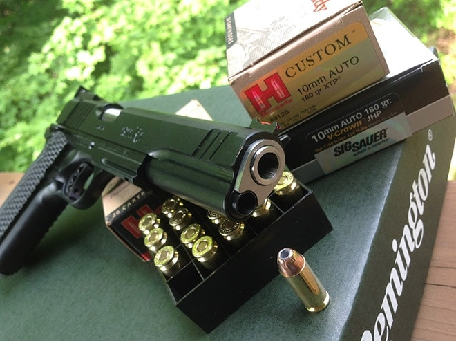The_Remington_1911_R1_eats_up_most_any_ammo,_including_reloads